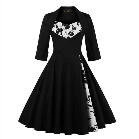 Black Vintage Gothic Dress SP13796