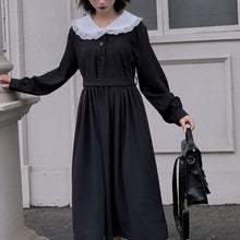 Load image into Gallery viewer, Black Vintage Sailor Long Sleeve Dress SP14304