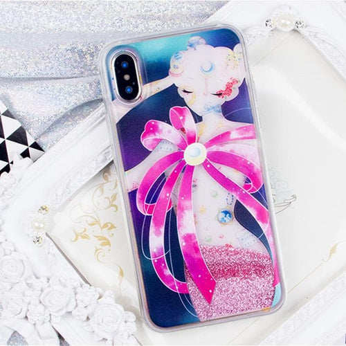 Blingbling Sailor Moon Quicksand Liquid Glitter Phone Case SP1812453