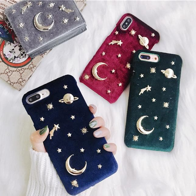 Blue/Red/Green/Grey Plush Space Phone Case SP1811707