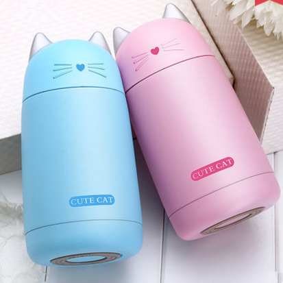 Blue/White/Pink Cute Cat Insulated Bottle SP1710777