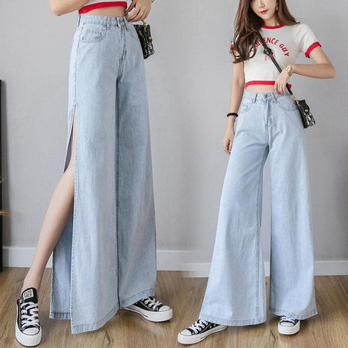 Blue Loose Chic High Waisted Jeans SP14119
