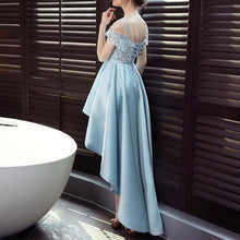 Load image into Gallery viewer, Blue Off Shoulder Flower Lace Dress SP14449 - SpreePicky FreeShipping