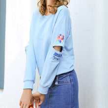 Load image into Gallery viewer, Blue Pastel Printing Pullover Jumper SP1710793