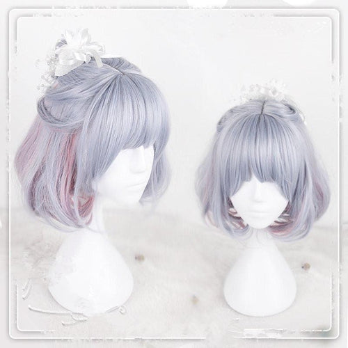 Blue Pink Layered Lolita Wig SP1710650
