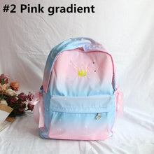 Load image into Gallery viewer, Blue Pink Pastel Crown Backpack S12732