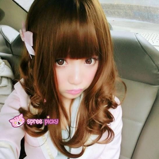 Brown/Black Kawaii Cute Short Curly Wig SP140813 - SpreePicky  - 1