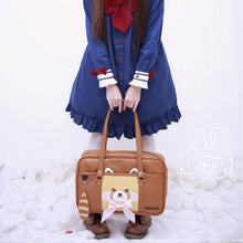 Load image into Gallery viewer, Brown Sweet Love Bow Red Panda Bag S13070