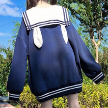 Load image into Gallery viewer, White/Blue Sailor Hoodie Jumper SP15293
