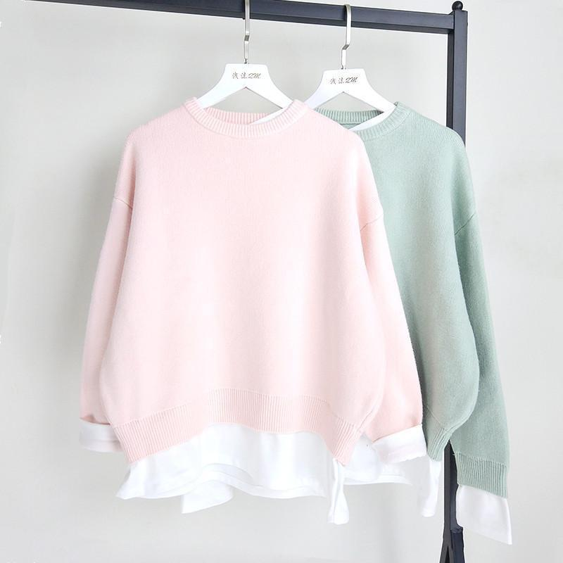 4 Colors Sweet Pastel Pullovers Sweater SP1710331