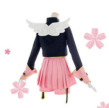 Load image into Gallery viewer, Cardcaptor Sakura Pink Black Battle Cosplay Costume SP1711507