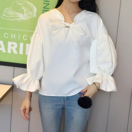 Casual Long Sleeve Chiffon Top & Knitted Vest SP1710764