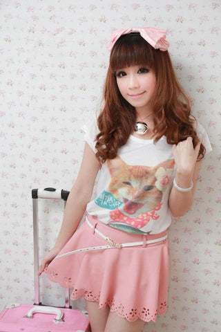 Cat Kitten Short Sleeve T-Shirt Top SP140846 - SpreePicky  - 4