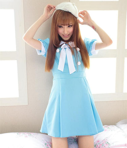 Cosplay K-ON Blue Uniform Fuku Dress SP141202 - SpreePicky  - 1