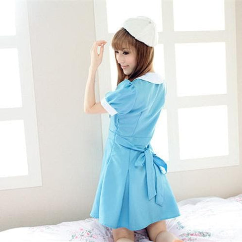 Cosplay K-ON Blue Uniform Fuku Dress SP141202 - SpreePicky  - 2