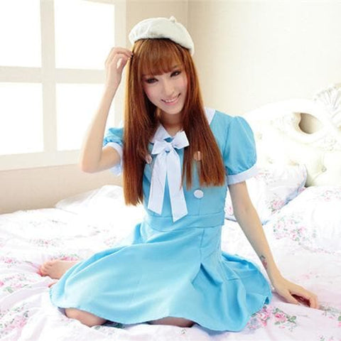 Cosplay K-ON Blue Uniform Fuku Dress SP141202 - SpreePicky  - 3
