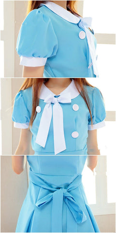 Cosplay K-ON Blue Uniform Fuku Dress SP141202 - SpreePicky  - 4