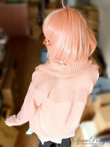 [境界の彼方]Cosplay Kuriyama Mirai Uniform Pink Cardigan Stretch Knitting Sweater SP140355 - SpreePicky  - 3