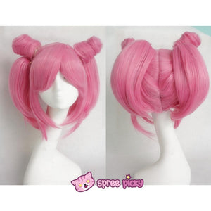 Cosplay Sailor Moon Chibi Moon Chibi Usa Hot Pink Wig With Pony Tails SP141460 - SpreePicky  - 3