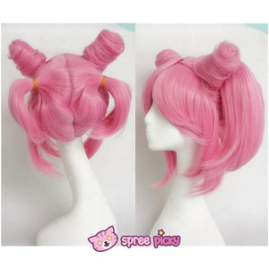 Cosplay Sailor Moon Chibi Moon Chibi Usa Hot Pink Wig With Pony Tails SP141460 - SpreePicky  - 4