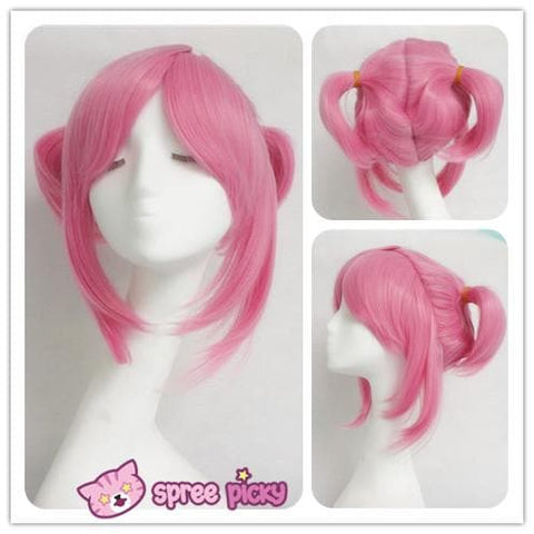 Cosplay Sailor Moon Chibi Moon Chibi Usa Hot Pink Wig With Pony Tails SP141460 - SpreePicky  - 5