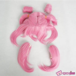 Cosplay Sailor Moon Chibi Moon Chibi Usa Hot Pink Wig With Pony Tails SP141460 - SpreePicky  - 6