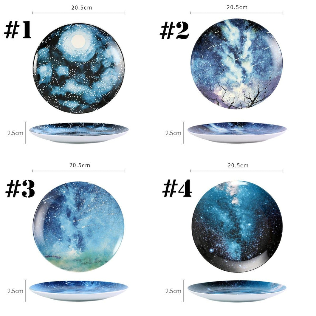 Creative Galaxy Ceramic Plate Dish SP13787