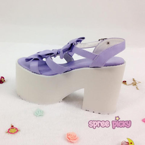 Custom Made Dreamy Purple Bows Shoes SP167561