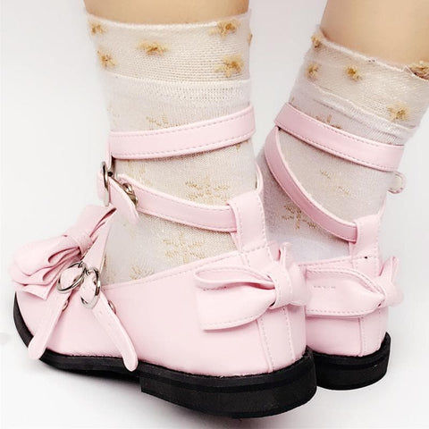 Custom Made Lolita Baby Pink Bow Shoes SP168069