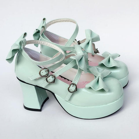 Custom Made Lolita Mint Baby Bow Shoes SP168066