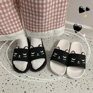 Cute Cartoon Cat Home Indoor Slippers SP14927