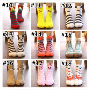 Cute Cartoon Coral Velvet Socks SP1710917