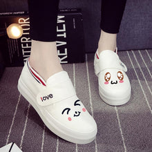Load image into Gallery viewer, Kawaii Emoji Hand Painted Canvas Shoes SP1711242