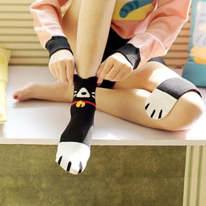 Cute Kitty Three-Piece Set Socks SP1711065