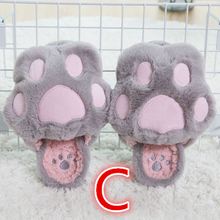 Load image into Gallery viewer, 5 Colors Kawaii Fluffy Paw Slippers SP1710767