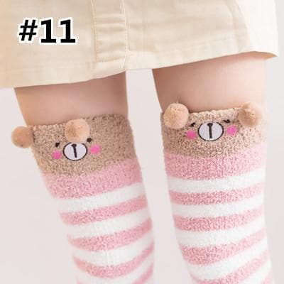fb0125e4d41 Cutie Animal Fleece Thigh High Long Socks SP154247 - SpreePicky