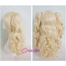 Load image into Gallery viewer, Lolita Harajuku Cosplay Light Gold Wig with 2 Pony Tails 3 Pieces Set SP130184 - SpreePicky  - 5