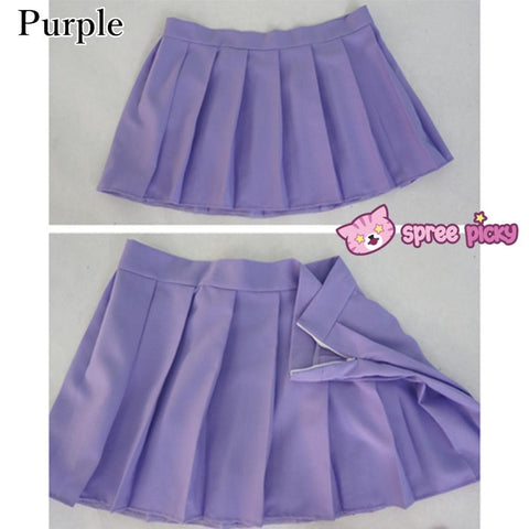 [10 Colors] Custom Made J-fashion Sailor Seifuku Uniform Pleated Skirt Only SP151672 - SpreePicky  - 7