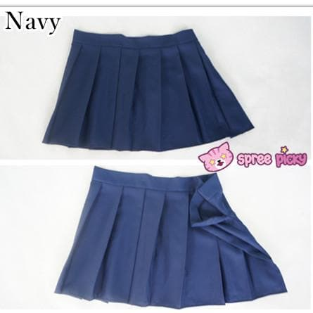 [10 Colors] Custom Made J-fashion Sailor Seifuku Uniform Pleated Skirt Only SP151672 - SpreePicky  - 5
