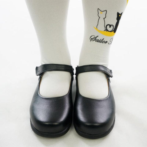 Cosplay/ Lolita Round Toe Matt Black PU Leather School Uniform Shoes SP141358