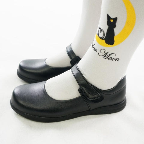 Cosplay/ Lolita Round Toe Matt Black PU Leather School Uniform Shoes SP141358 - SpreePicky  - 4