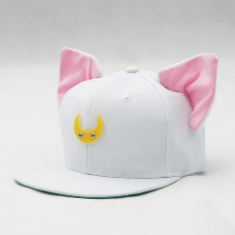 Black/White Sailor Moon Luna/Artemis Beanie Kitty Cap Snapback SP153109 - SpreePicky  - 5