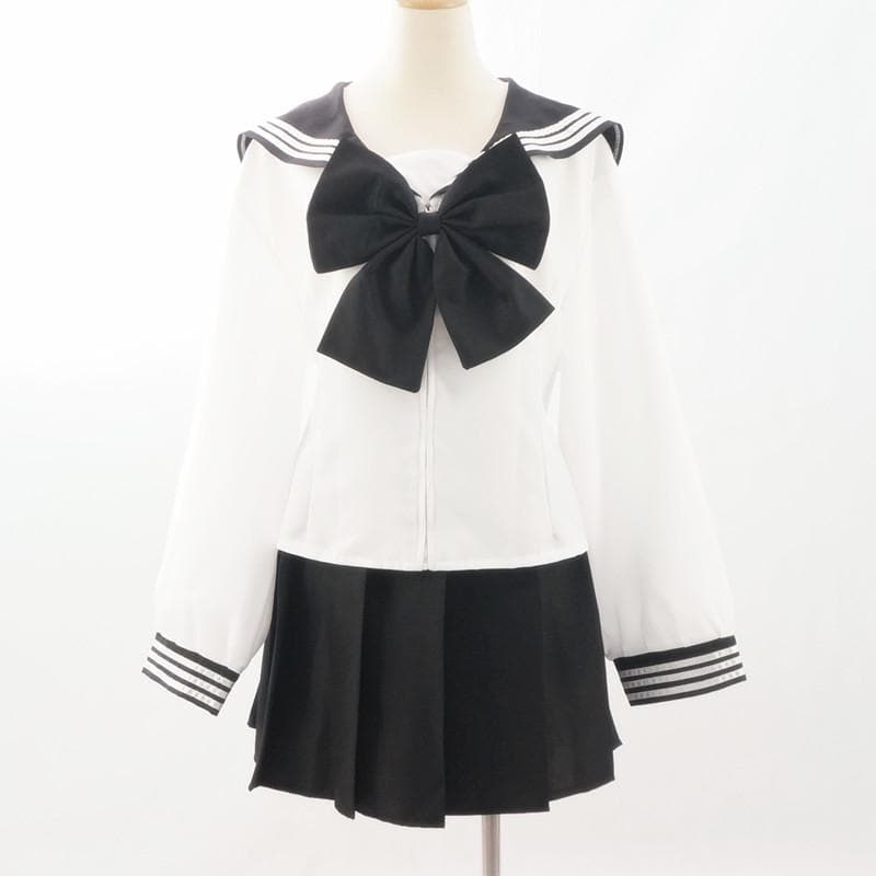 Custom Made Japanese Long Sleeve Sailor Seifuku Uniform Set SP152721 - SpreePicky  - 1