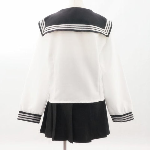 Custom Made Japanese Long Sleeve Sailor Seifuku Uniform Set SP152721 - SpreePicky  - 4