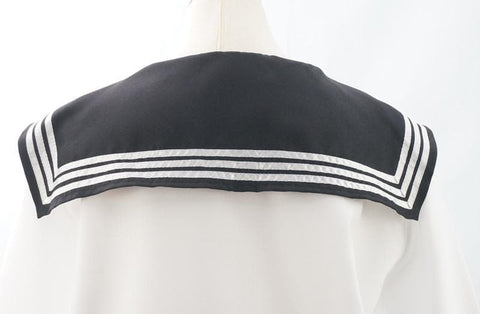 Custom Made Japanese Long Sleeve Sailor Seifuku Uniform Set SP152721 - SpreePicky  - 5