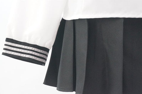 Custom Made Japanese Long Sleeve Sailor Seifuku Uniform Set SP152721 - SpreePicky  - 6