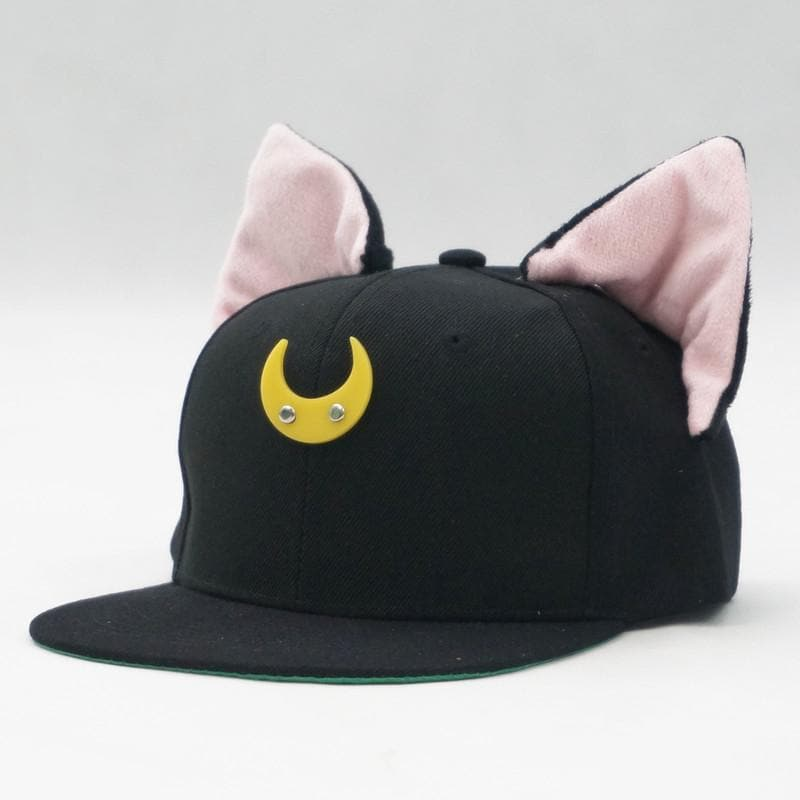 Black/White Sailor Moon Luna/Artemis Beanie Kitty Cap Snapback SP153109 - SpreePicky  - 7
