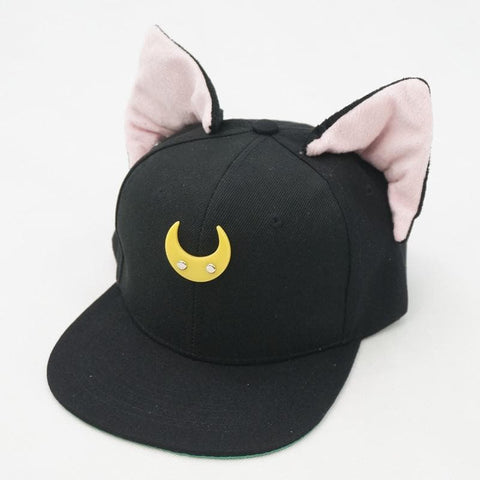 Black/White Sailor Moon Luna/Artemis Beanie Kitty Cap Snapback SP153109 - SpreePicky  - 8