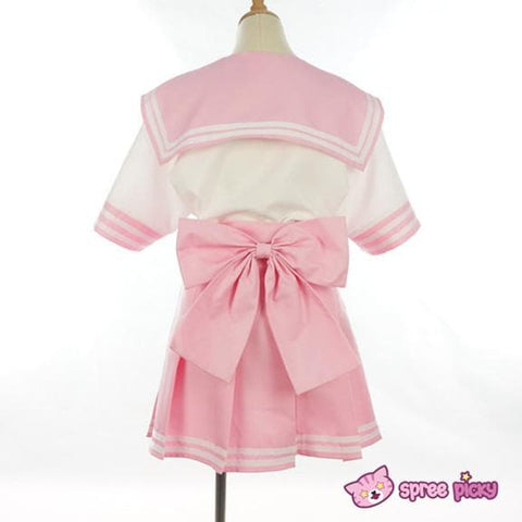 Daily Cosplay [Sailor Moon]Sailor Chibi Moon Chibi Usa Pink Seifuku Unfirom Top/Skirt/Bow - SpreePicky  - 4