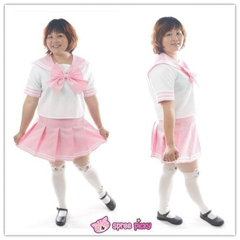Daily Cosplay [Sailor Moon]Sailor Chibi Moon Chibi Usa Pink Seifuku Unfirom Top/Skirt/Bow - SpreePicky  - 2
